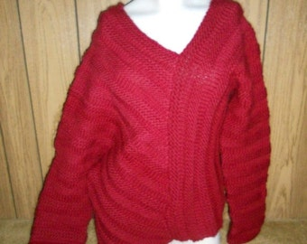 SALE Everything 20% Off    Coupon code: LOVEVINTAGE                                         Vintage HANDMADE thick Knit pullover Sweater