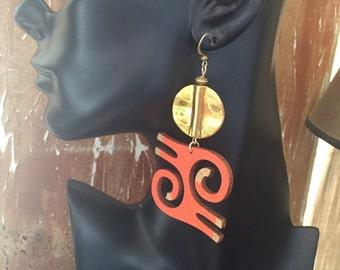 Afrocentric Jewelry, Earrings,Adinkra