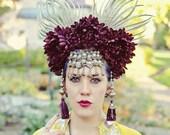 Exotic Plum Floral Headdress