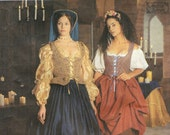 Simplicity 8715 RENAISSANCE MEDIEVAL COSTUMES Noble Lady Peasant Girl Sizes 10-14 ©1999