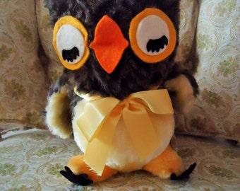 Vintage Plush Musical Owl