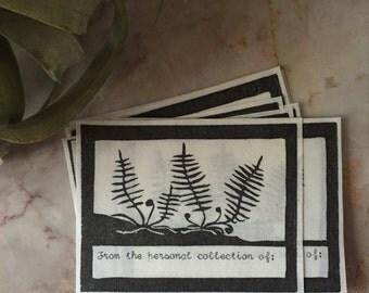 Set of Ten Handprinted Bookplates