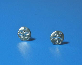 Vintage Silver Sand Dollar Earrings