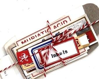 Vintage Original Pharmacy Prescription Box and Labels