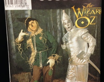 Uncut Simplicity 7820 Scarecrow & Tin Man of Oz Costume Sewing Pattern XS-XLG