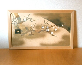 Japanese Small Sliding Door - Vintage Sliding Door Panel - Plum Blossoms On Branches (1)