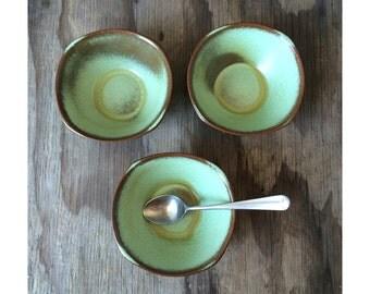 Prairie Green Frankoma Bowls - Set of 3 - 5XS - 1950s Bowls