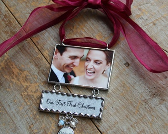 Custom Christmas Ornament Newly Engaged First Married Christmas Ornment as Mr. & Mrs.