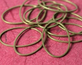 Antique brass oval link connector size 25x16mm, 12 pcs (item ID YWFA00798CCE)