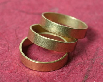 Solid brass band ring blank, one piece (item ID FA00182)