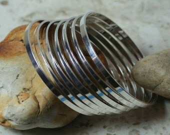 Stacking Bangle Bracelet, Silver Plated Bangle, Bangle Blanks, one piece (item ID BBSP55)