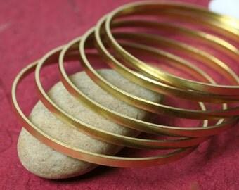 Stacking Bangle Bracelet, Brass Bangle, Solid Brass Bangle Blank, Small to Medium, one piece (item ID FA01255)