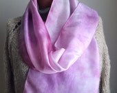 Milan hand dyed pink silk scaf Italy Italian pastel lavender soft delicate rose romantic chic fashion lady ladylike cotton candy