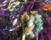 Cherub Rock art yarn 14 yards mohair wool yarn colorful curly textured colorful girlwithasword dreads purply bright wild ma