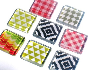 Geometric - Glass Magnet Set