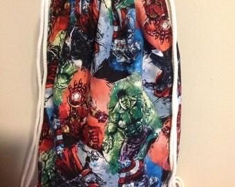 Marvel Superhero Avengers Draw String Back Pack
