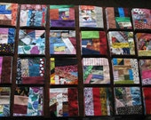 Multi-colored Crazy Crumb quilt block bundles