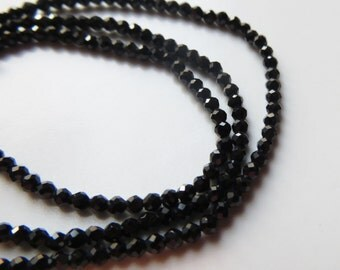 1mm Spinel Rondelle Beads - One Strand
