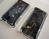 Deep Space 2 inch oblong glass tile magnets set of 2