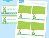 Instant download - EASTER Party Buffet Labels (Blue) - Editable Printable