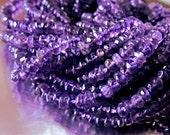 Amethyst Rondelles Faceted Natural Color Genuine Gemstones purple quartz amethyst Get DISCOUNT with Coupon