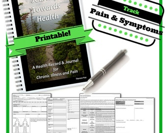 Printable PDF Health Record & Journal for Chronic Illness and Pain