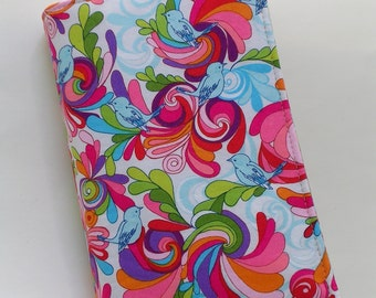 Fabric Book Cover (for mass market paperback books) with ribbon bookmark