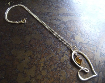 Goldenrod Passion Vintage Lucite Plastic Gold Plated Chain necklace