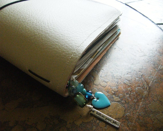 Follow Your Bliss Glass Acrylic Rainbow Agate Epoxy Traveler's Notebook Bookmark