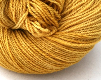 Mohonk Hand Dyed sport weight NYS Wool 370 yds 4oz Harvest Gold