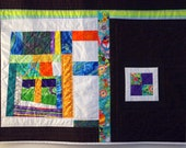 Artistic Modern Quilted Wall Hanging, Comtemporary, Colorful, Bold