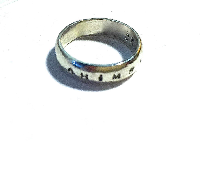 Ahimsa Ring Band Ring Yoga Ring Vegan Ring Eco Friendly