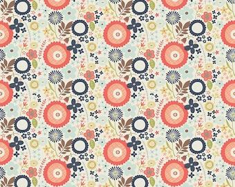 Woodland Spring - Fabric By Dani - For Riley Blake - Navy Floral - 1 Yard - 9.95 Dollars