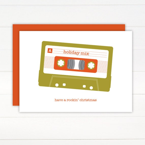Christmas Card - MIX TAPE Holiday Card Set of 8