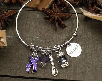 DP-1 Chiari Awareness Ulcerative Colitis Bracelet Crohns Jewelry Fibromyalgia Bracelet Lupus Awareness Spoonie Bracelet Spoon Theory Jewelry