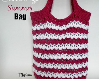 Slanted Puffs Bag ~ Crochet Pattern
