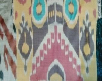 Silk Ikat Handwoven Multicolor Bright