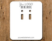 Custom Earring Cards with Your Logo - Leverback - French Wire - Necklace - Hair Pin Barrettes Bows
