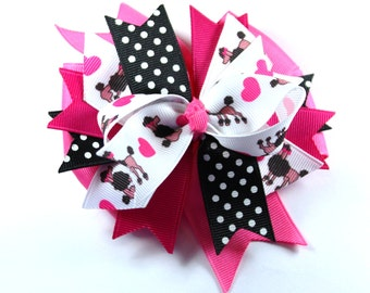 M2MG Tres Chic Boutique Hair Bow poodle