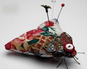 """Moth Pincushion """"Rose Moth"""""""