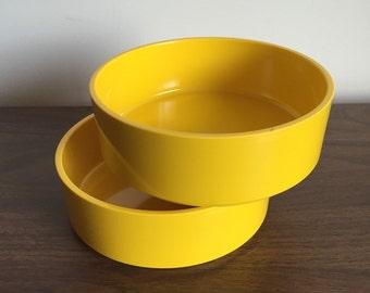 Yellow Melmac Oblique Bowls