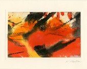 Art Abstraction 3 - Beautiful Original Hand Painted Abstract Blank Greeting Card by Kathy Morton Stanion EBSQ