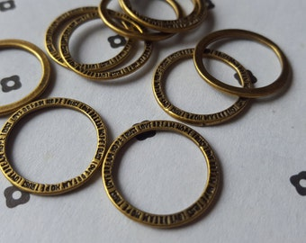 Antique Bronze ''Love dream hope trust'' Connector Link (10)