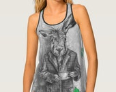 March Hare Tank Top Alice in Wonderland Shirt Womens Tank Woman Shirt March Hare Shirt Alice in Wonderland Tank Top