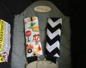 Cute Just Dig It and Black Chevron Reversible Car Seat Strap Covers