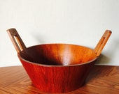 ANRI Form Staved Teak Italian Bowl