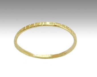 Gold band, Wedding band, Thin band, grooved band, 14k yellow gold band, simple band, womens band, simple ring, stacking ring - Time RG1594