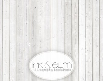 """Backdrop 7ft x 6ft, Vinyl Photography Backdrop White Wood, Distressed White wood photo background, Photo prop floor drop, """"Nantucket Planks"""""""
