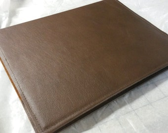 Large Leather Book Journal Cover Brown Color  Plus Custom Stamping Free