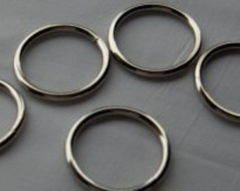 O Ring 3/4  inch Steel Welded Nickel Plated Pk of 25